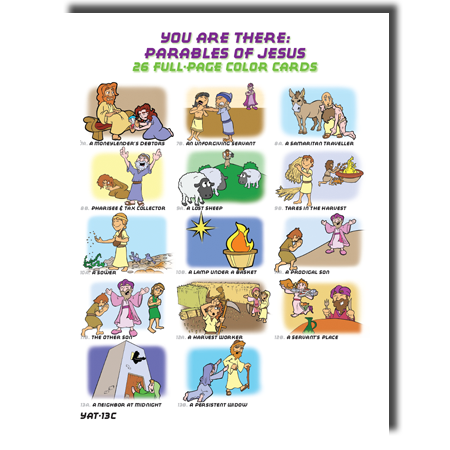 Test 813C Parables of Jesus Color Cards - Cup of Cold Water